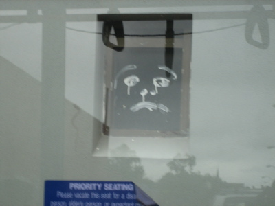 Sad Face in the Window